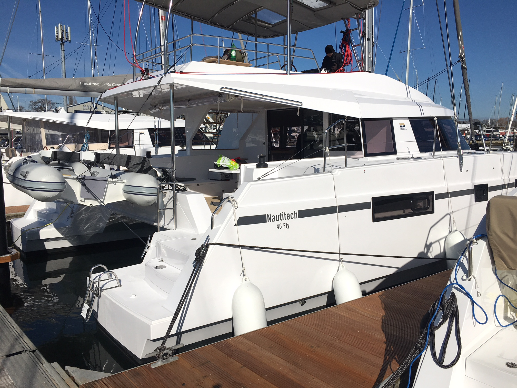 Nautitech 46 on delivery with Reliance Yacht Management