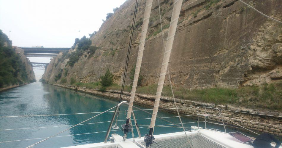 Lagoon 560 Corinth Canal